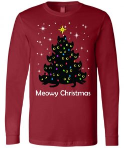 Meowy Christmas Cat Lover Christmas Tree Long Sleeve Amazon best Seller