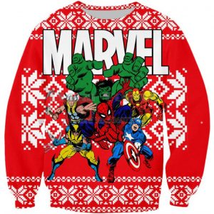 Marvel Super Heroes Ugly Sweater