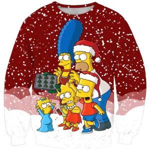 The Simpson Family Ugly Christmas Sweater Amazon Best Seller