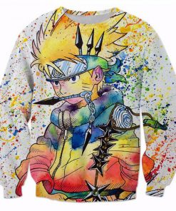 Naruto Tie Dye 3D All Over Print Sweatshirt Amazon Best Seller