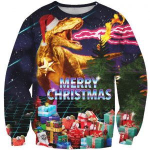 Dinosaur Merry Christmas Ugly Sweater Amazon Best Seller