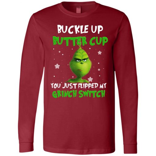 Grinch Christmas Buckle Up Butter Cup Long Sleeve Amazon Best Seller