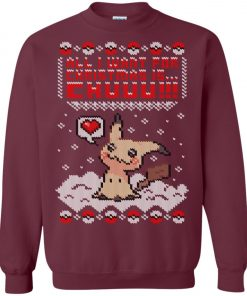 Pokemon Pikachu All I Want For Christmas Is Chuuu Ugly Christmas Sweater
