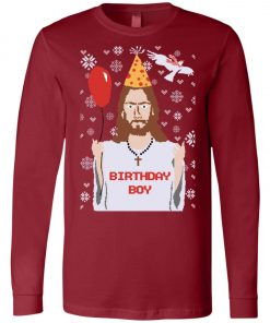 Funny Christmas Jesus Birtday Boy Long Sleeve