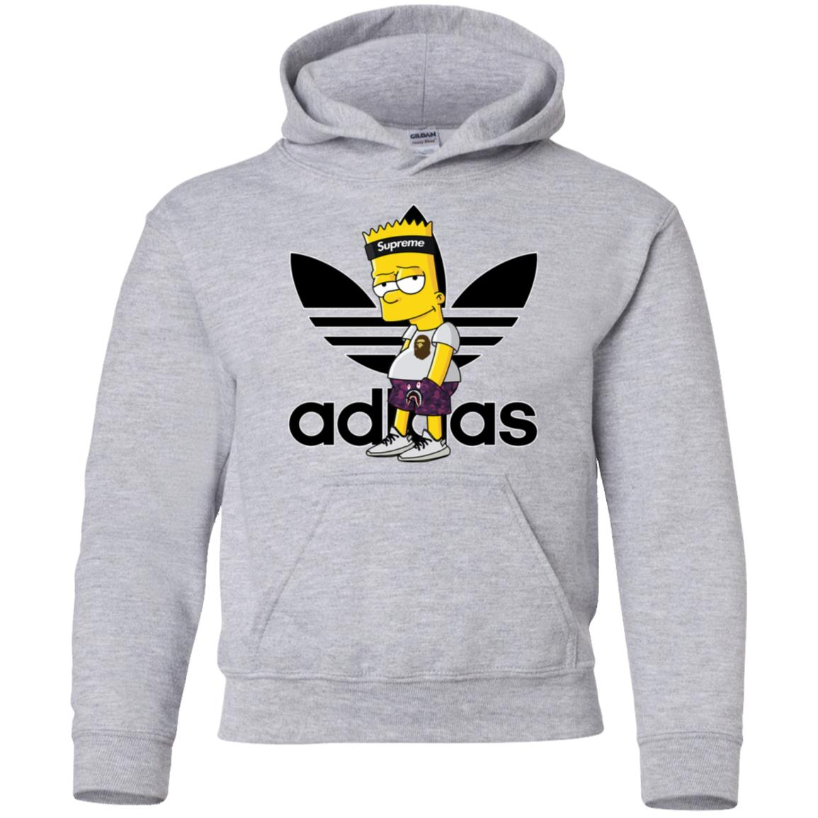 44b638ae Bart Simpson With Adidas Yeezy Supreme Youth Hoodie