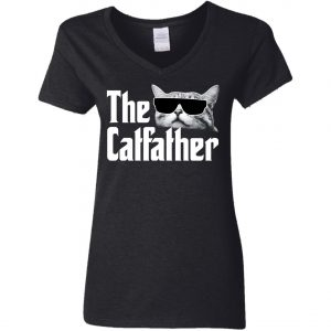 The Catfather The Godfather Woman's V-Neck T-Shirt Amazon Best Seller
