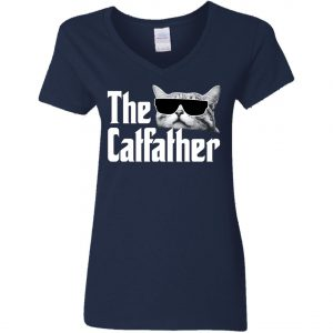 The Catfather The Godfather Woman's V-Neck T-Shirt