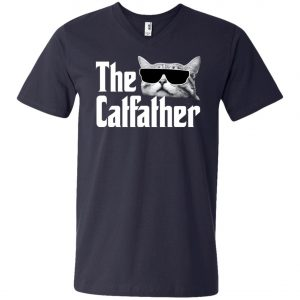 The Catfather The Godfather V-Neck T-Shirt