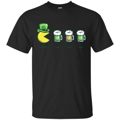 Irish Pacman Eat Beer Classic T-Shirt Amazon Best Seller