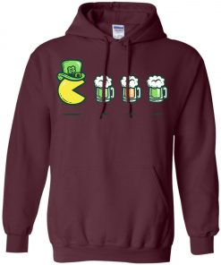 Irish Pacman Eat Beer Hoodie