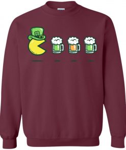 Irish Pacman Eat Beer Sweatshirt