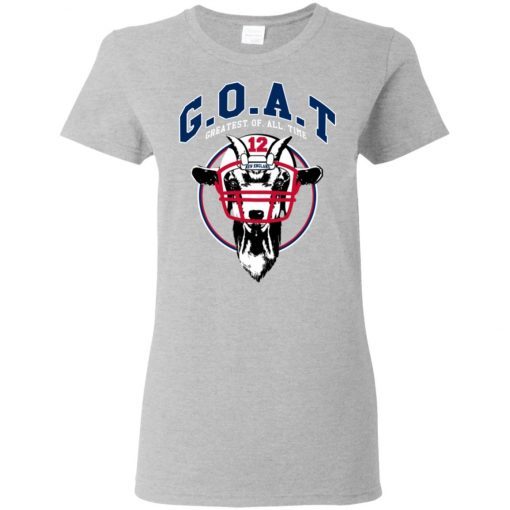 GOAT 12 Patriots Tom Brady Women's T-Shirt