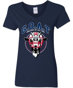 GOAT 12 Patriots Tom Brady Woman's V-Neck T-Shirt