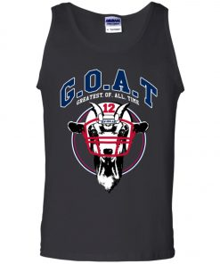 GOAT 12 Patriots Tom Brady Men's Tank Top