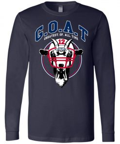 GOAT 12 Patriots Tom Brady Long Sleeve