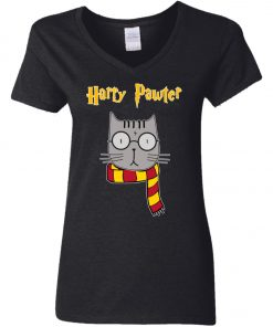 Muggle Cat Harry Potter Woman's V-Neck T-Shirt