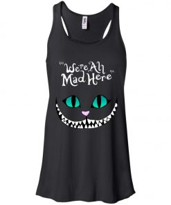 Disney Grinning Cheshire Cat We Are All Mad Here Women's Tank Top