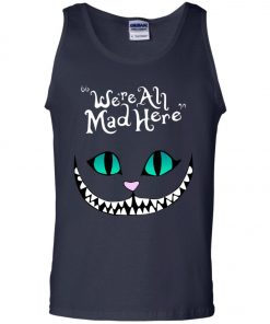 Disney Grinning Cheshire Cat We Are All Mad Here Men's Tank Top