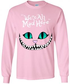 Uploaded ToDisney Grinning Cheshire Cat We Are All Mad Here Youth Sweatshirt