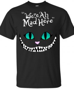 Disney Grinning Cheshire Cat We Are All Mad Here Youth T-Shirt