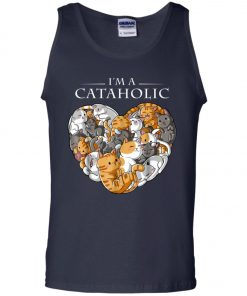 I Am A Cataholic A Cat Lover Men's Tank Top