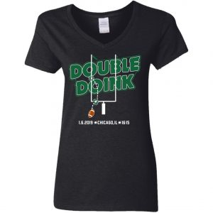 Philadelphia Eagles Double Doink Gear Woman's V-Neck T-Shirt