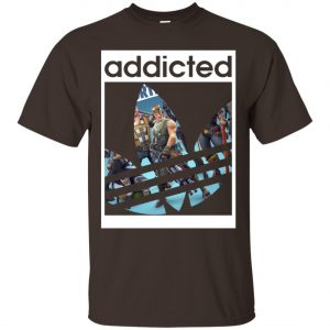 Fortnite Addicted With Adidas Logo Men's T-Shirt