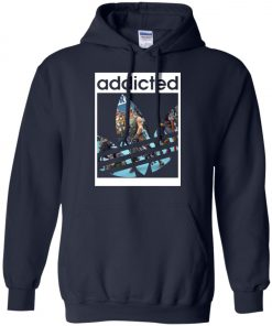 Fortnite Addicted With Adidas Logo Hoodie