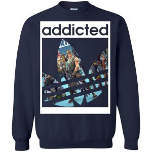Fortnite Addicted With Adidas Logo Sweatshirt