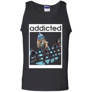 Fortnite Addicted With Adidas Logo Men's Tank Top