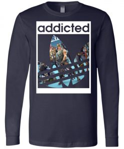 Fortnite Addicted With Adidas Logo Long Sleeve