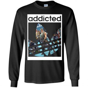 Fortnite Addicted With Adidas Logo Youth Sweatshirt