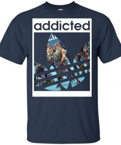 Fortnite Addicted With Adidas Logo Youth T-Shirt