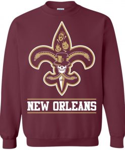 New Orleans Saints Mardi Gras Sweatshirt
