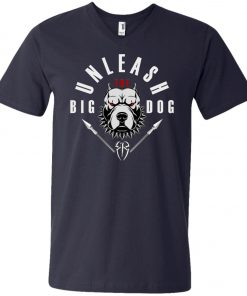WWE Unleash The Big Dog Roman Reigns V-Neck T-Shirt