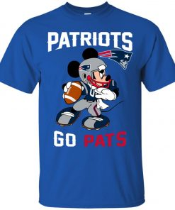 NFL Patriots Go Pats Mickey Men's T-Shirt