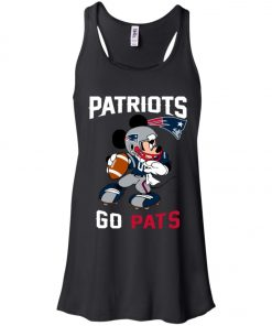 NFL Patriots Go Pats Mickey Women's Tank Top
