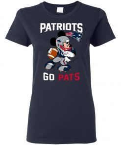 NFL Patriots Go Pats Mickey Women's T-Shirt