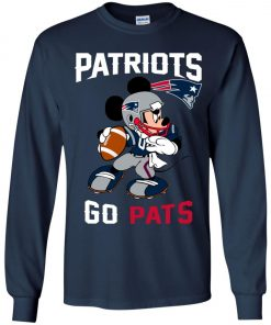 NFL Patriots Go Pats Mickey Youth Sweatshirt