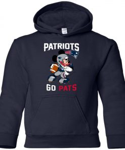 NFL Patriots Go Pats Mickey Youth Hoodie