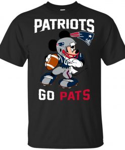NFL Patriots Go Pats Mickey Youth T-Shirt