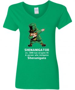 Shenanigator Leprechaun Irish Dabbing Woman's V-Neck T-Shirt