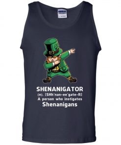 Shenanigator Leprechaun Irish Dabbing Men's Tank Top
