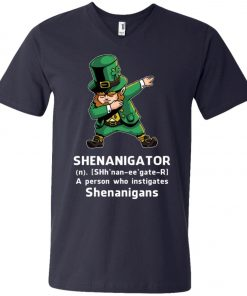 Shenanigator Leprechaun Irish Dabbing V-Neck T-Shirt