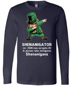 Shenanigator Leprechaun Irish Dabbing Long Sleeve