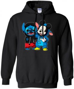 Stitch and Mickey Change Hoodie