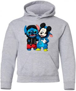 Stitch and Mickey Change Youth Hoodie