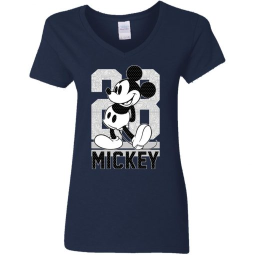 28 Birthday Mickey Mouse Woman's V-Neck T-Shirt