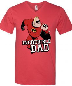 You Are Incrediable Dad And Son V-Neck T-Shirt