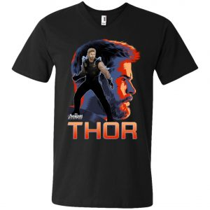 Avenger Thor Profile V-Neck T-Shirt